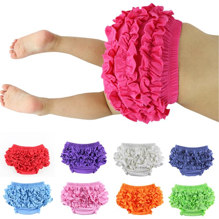 Wennikids Cotton Baby Bloomer Ruffle Bloomer,infant bloomer,Toddler bloomer Diaper Covers baby girl underwear bloomer 0-24M(China (Mainland))