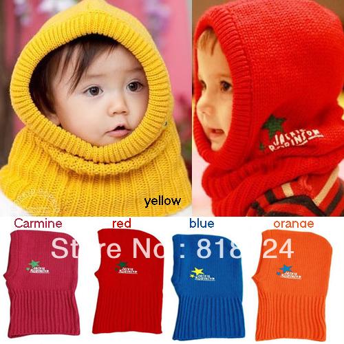Новый шерсть корейский мило эластичный теплая зима - звезда детские дети дети кепка шляпа шапка воротник кепка