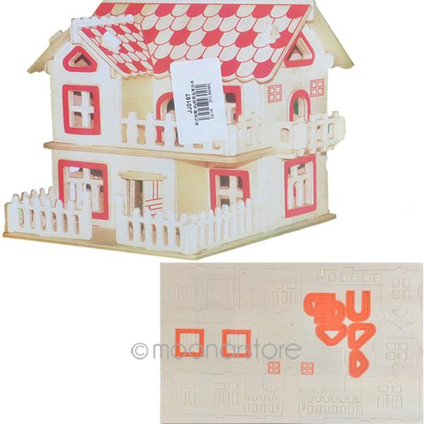 New Arrive Lovely Cottage/Villa House Castle 3D DIY Jigsaw Puzzle Wisdom Baby Kids Children Educational Toys JL*JJ0167*90(China (Mainland))