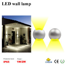 CE IP65 LED outdoor wall lamp 1W 2W corridor waterproof wall lamp side of the light modeling lights AC12V DC12V Patented product(China (Mainland))