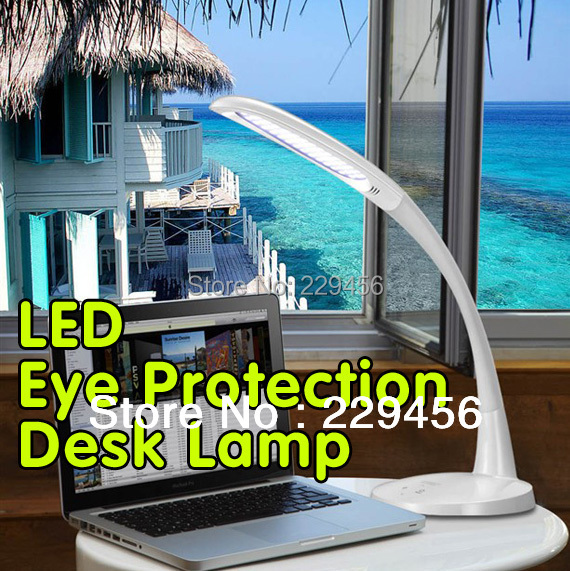 LED Desk Lamp Office Study Table Bedside Reading Lamp Flexible Dimmable Touch Switch Highlight 12W 110-240V(China (Mainland))