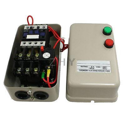 2.2-3.5A 2 HP Three Phase Motor Magnetic Starter Contactor 380V AC Coil 3 Pole