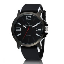Fashion V6 Brand Wristwatches Clock Male Silicone Band Big Dial Quartz Watch Sport Men's Water Proof Watches Relojes Hombre 2015