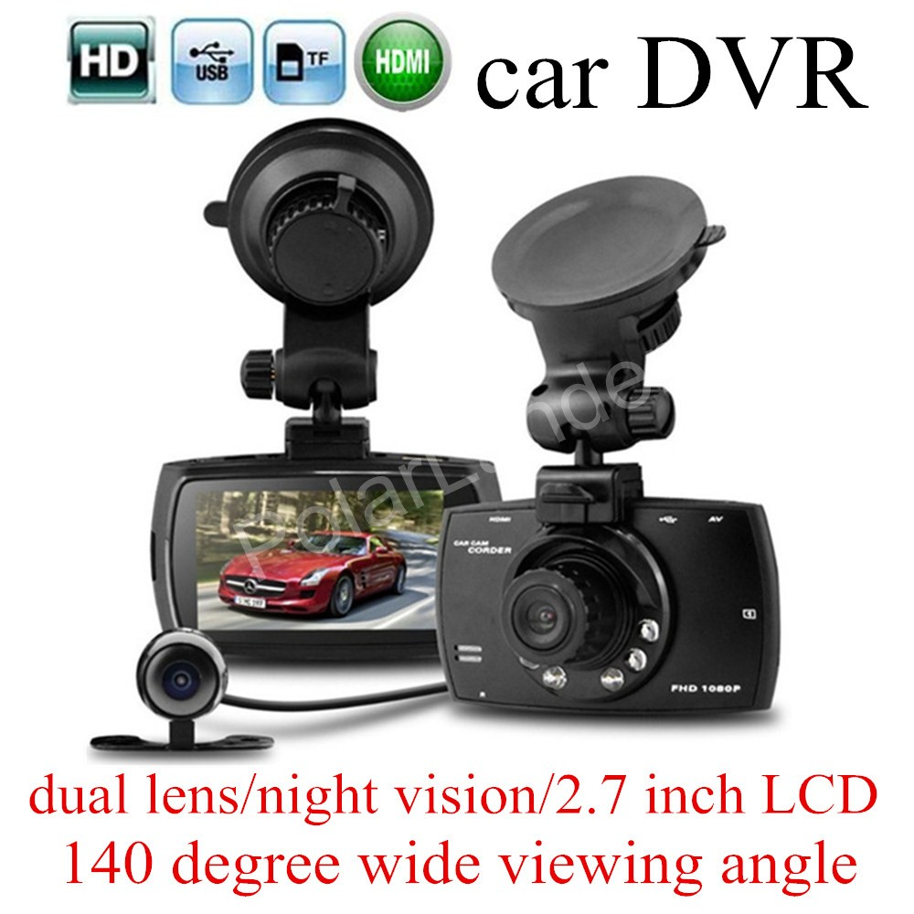 "HD 2.7"" inch LCD screen Car DVR G30 Allwinner F23 Car Camera Recorder Night Vision two cameras 140 degree wide viewing angle(China (Mainland))"