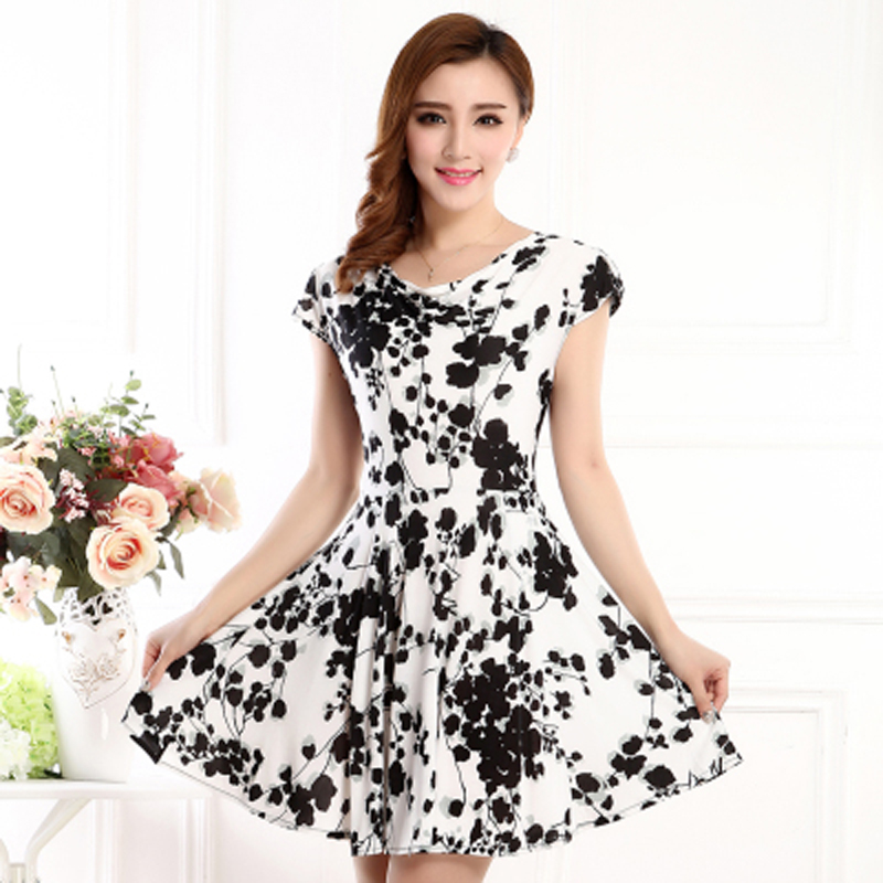 Women's Slip Ice Silk Vintage Bodycon Dress 50s Print summer Casual Party Renaissance Rockabilly Swing Female Dresses(China (Mainland))