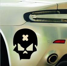Free shipping 2pcs/lot Reflective mastermind Skull PVC car stickers decoration motorcycle body parts sticker styling(China (Mainland))