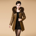 New 2016 Women s Winter Jacket Luxury Down Parkas with Fox fur collar Hooded Duck Down