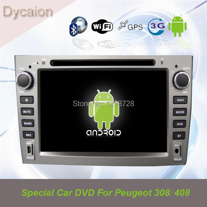 Car gps navigation PEUGEOT 408/For PEUGEOT 308 408 radio/Touch screen 408 DVD player(China (Mainland))
