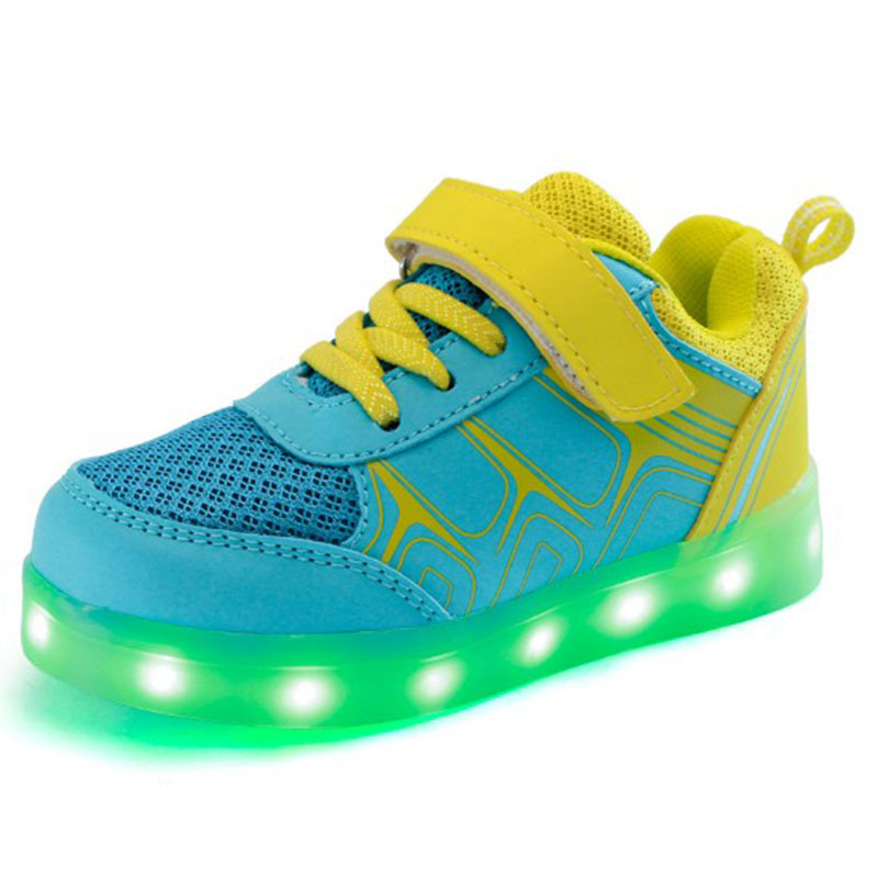 New 2016 Chaussure Led Enfant Light Up Shoes Kids Casual Children Shoes Boys Garcon Fille Girls Shoe With Lights For Child(China (Mainland))