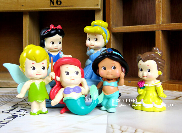 Free shippping High Quality PVC Princess Tinkerbell doll toy 6pcs Collection Figure Retail(China (Mainland))