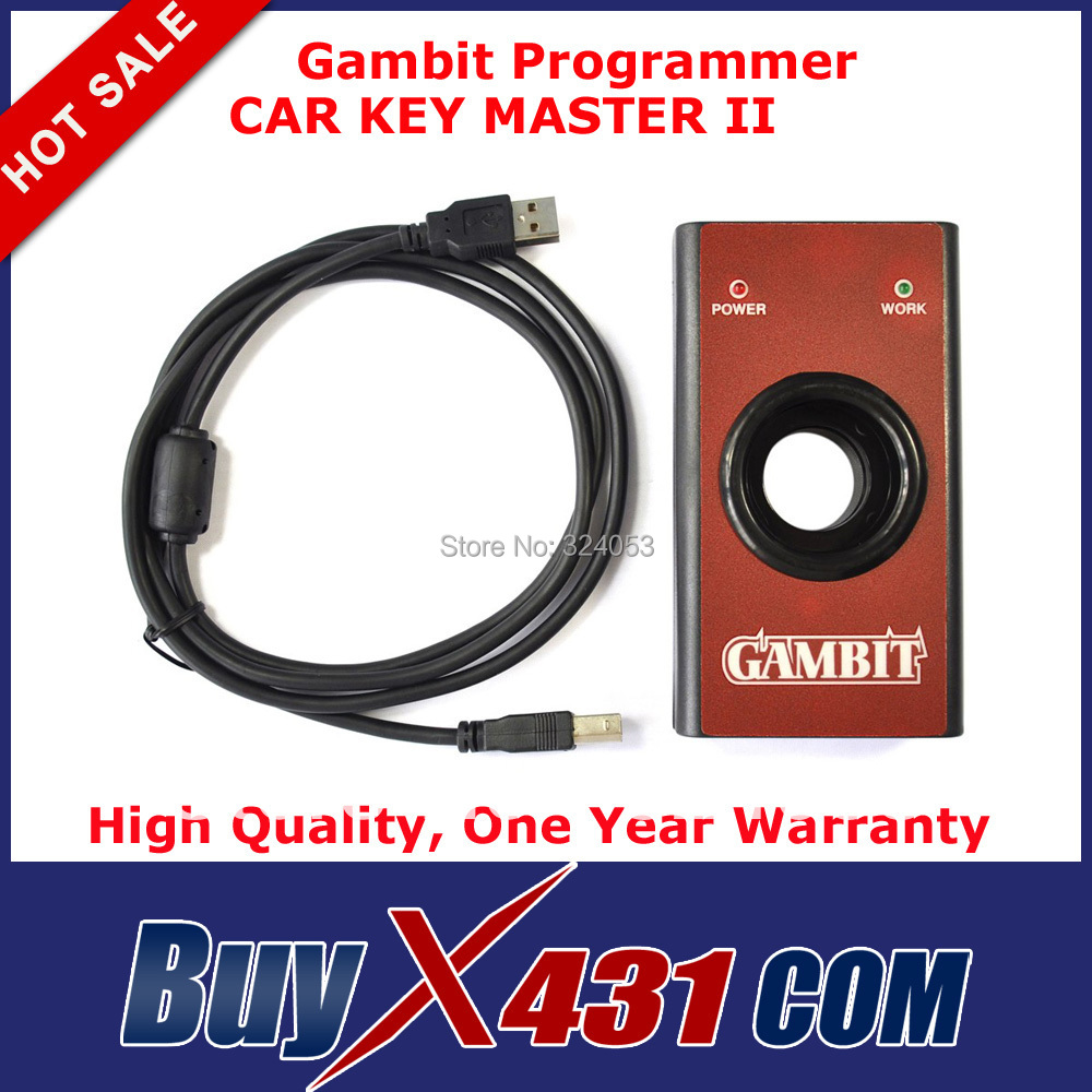 2014 Top quality Gambit Programmer Car Key Master II Auto Transponder Chip RFID Key Programmer + Free Shipping(China (Mainland))
