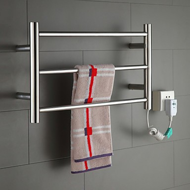 Hot Sale Heated Towel Rail, Stainless Steel Electric Towel Warmer Bathroom Towel Racks Holder Bathroom Accessories Wall Mounted(China (Mainland))