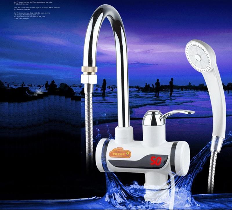 Электрический водопроводный кран