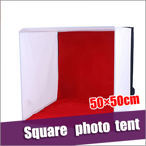 Photography studio supplies 50*50*50cm square photo tent Studio Soft cloth shed body Flocking cloth background Free shipping(China (Mainland))
