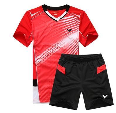 2014 Men tennis dresses short sleeve shirt shorts Polyester breathable sportswear for boy professional tennis clothing(China (Mainland))