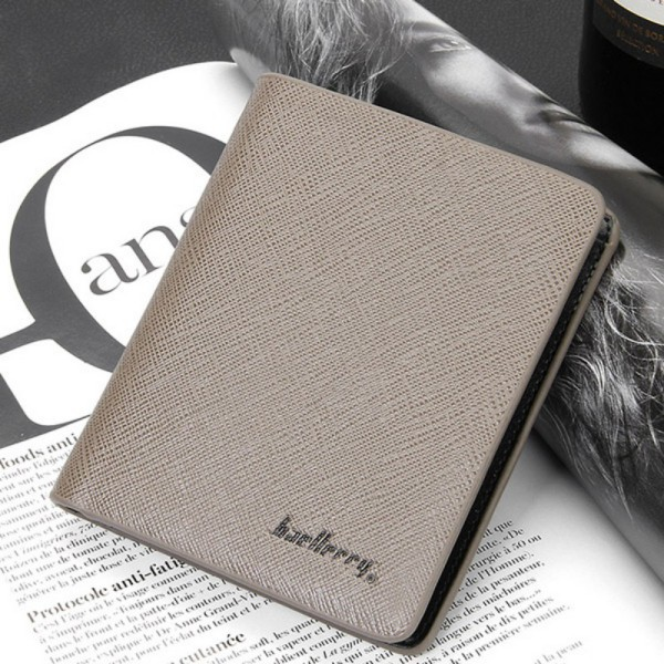 Best Selling Men's Leather Bifold Credit/ID Cards Holder Slim Wallet Money Purse Billfold(China (Mainland))