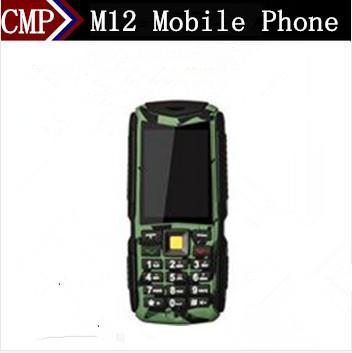 "M12 Waterproof Mobile Phone 3 Sim Cards GSM/CDMA 4500Mah Big Battery 2.4"" Screen Russian Keyboard Multi Languages(China (Mainland))"