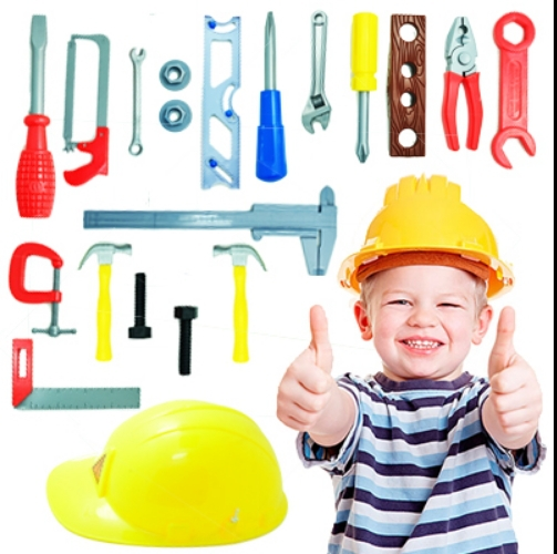 Child Removable Tools Toy Giving Engineering cap eco-friendly(China (Mainland))