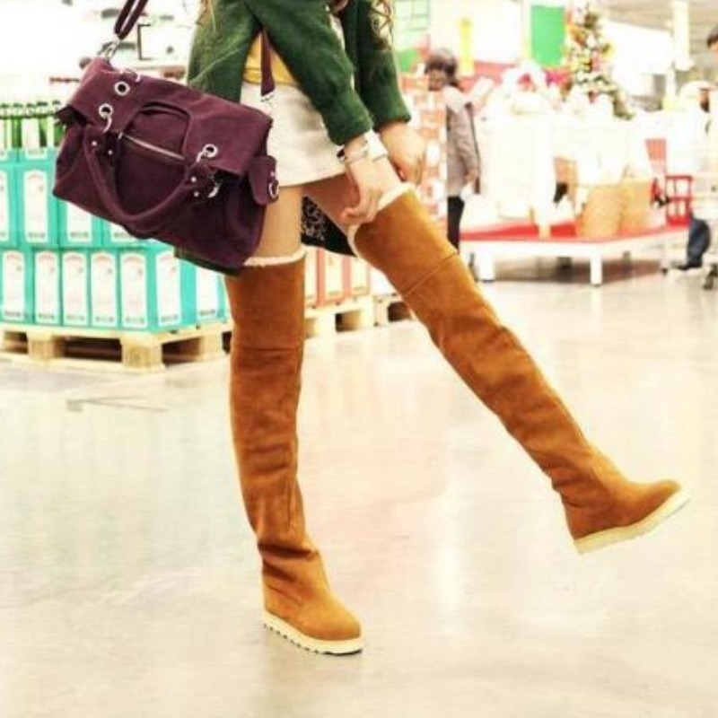 Autumn and winter snow boots high martin platform shoes women's over the knee 25pt knee high boots(China (Mainland))