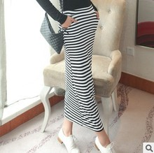 2015 new fashion women long skirt striped skirts womens excellent quality(China (Mainland))