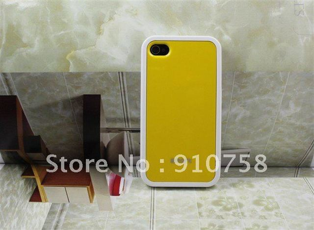 20pcs/lot Case For iPhone 4 4S Bumper Plastic For iPhone Bumper Frame Perfect  and  Back protection