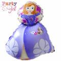 5 pcs modeling Queen Sofia Princess Wholesale aluminum balloons party decoration foil helium balloon