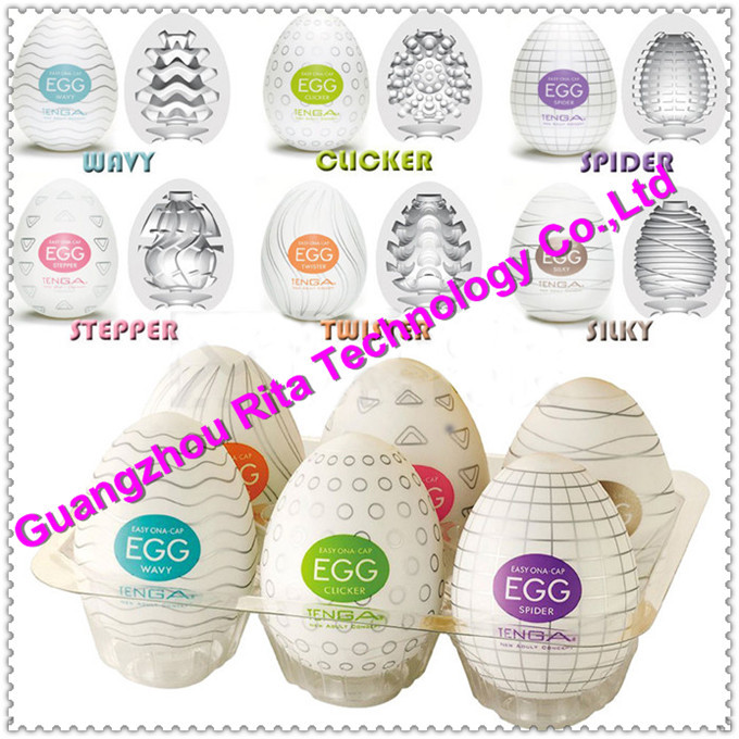 Wholesale TENGA EGG Male Masturbator Japan Egg Silicon Masturbatory Cup Sex Pocket Realistic 6 Variety with Lubricant Discreet(China (Mainland))