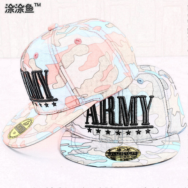 Надписи армейское KidsSnapback кепка, Дети бейсбол спорт шляпа Camouflagefor 3-8yrs