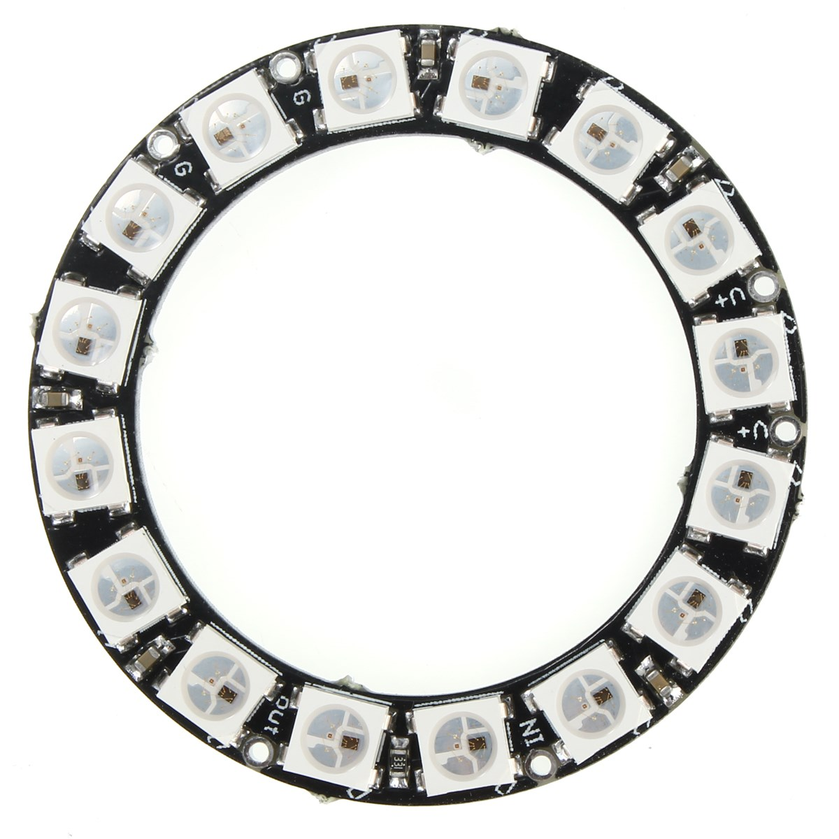 Best Promotion LED Ring 16x WS2812B 5050 RGB With Integrated Drivers(China (Mainland))