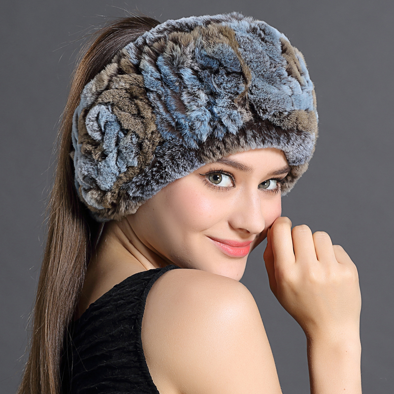 Rex Rabbit Fur Hair Band Women Winter Scarves Fashion Casual Trendy Warm Scarf 2016 Elegant Multicolored Ring Scarves For Female(China (Mainland))