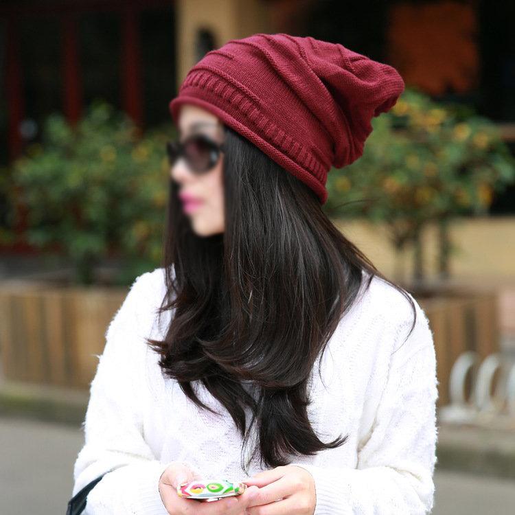 Гаджет  COFA,Winter red hats women Woolen knitted hat Beanie Crochet WaWinter Hat (Red*Pile) None Изготовление под заказ