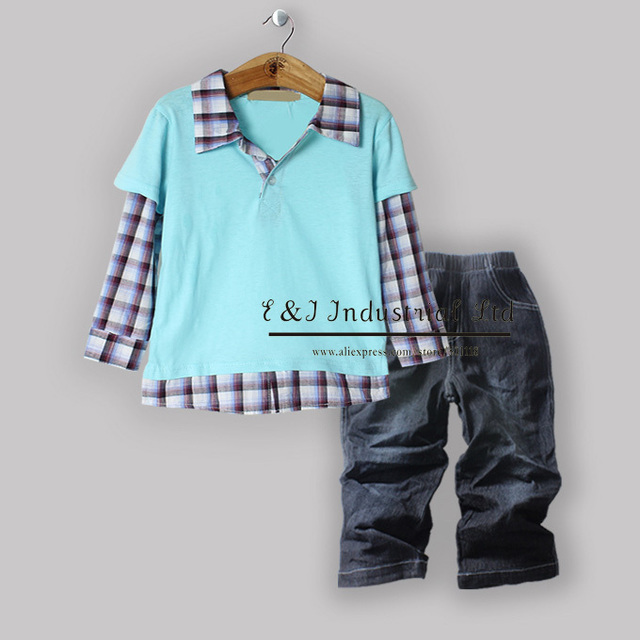 2012 Winter Fashion Kids Clothes Cheap Price Suits Casual Suits For Boys Wear(5Sets/Lot) Free Shipping (Size:80-90-100-110-120)