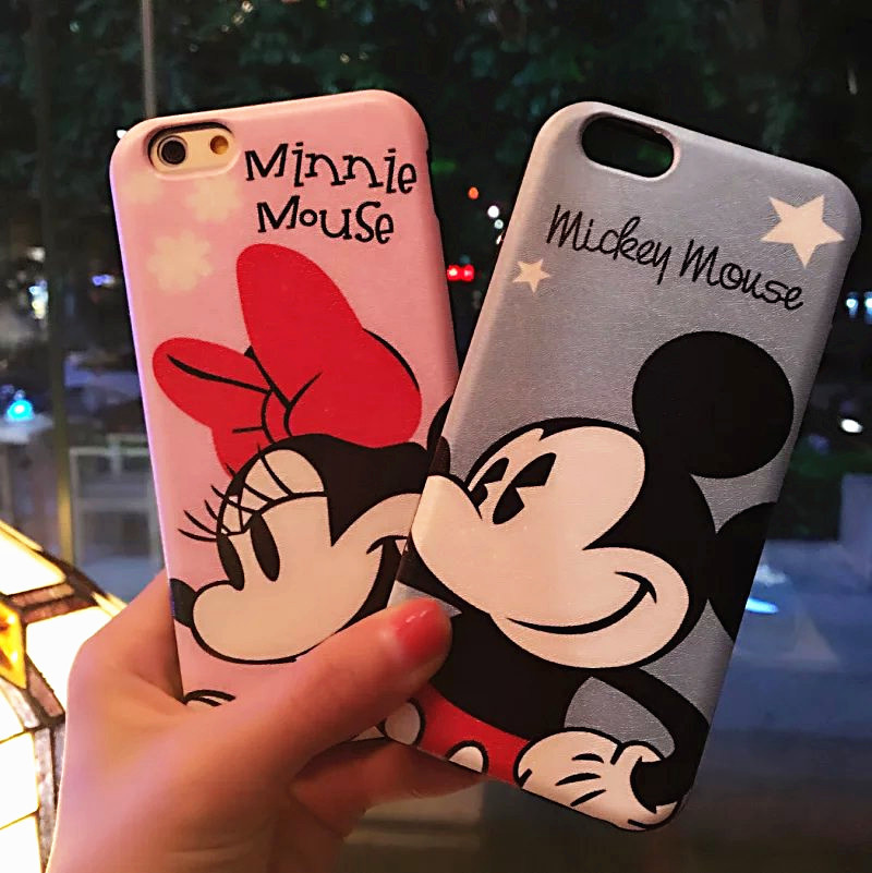 Newest Super Lovely 3D Cartoon Mickey Mouse Minnie Soft Silicone Back Cover Case For iPhone6 6s/6Plus Phone Case Coque Capa Para