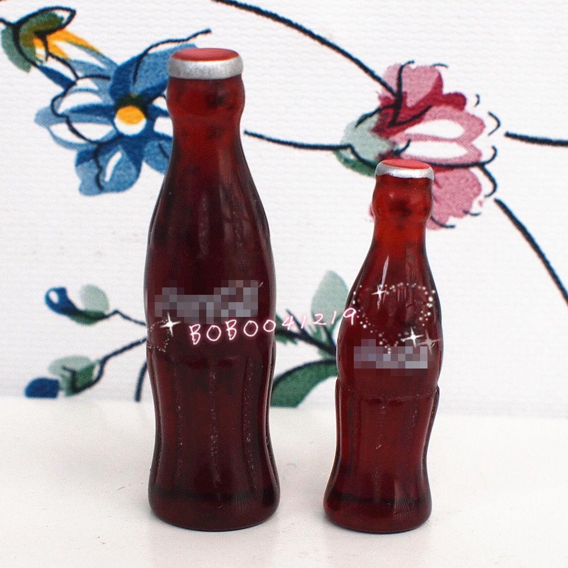 Dollhouse Miniature 1:12 Toy Kitchen 2 pcs of Drink Bottles DC58(China (Mainland))