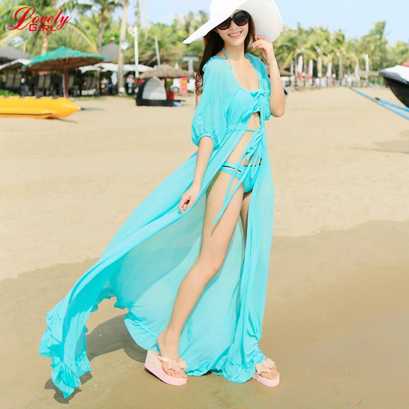 Фото пляжных платьев из шифона длинные