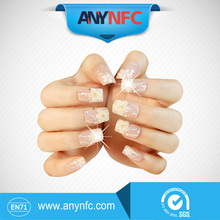 HIgh Quality Glitter flawlessly Nail Sticker NFC Smart Nail shipping with NFC phones *Free Shipping(China (Mainland))