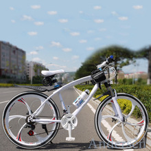 New Free Shipping 26″ Inch 24 Speed Mountain Bike Bicycle Colorful downhill Road bikes With Double Disc Brake For Russia Style
