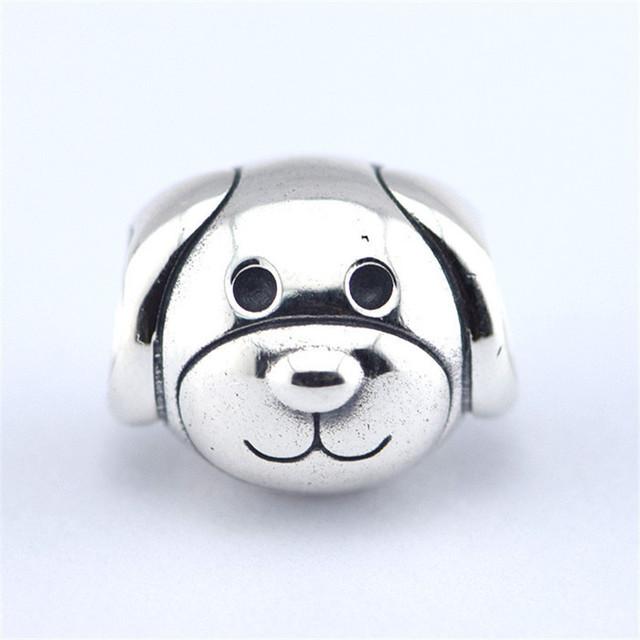 Предварительно - осень стиль S925 стерлингового серебра Jewerly преданная собака бусины DIY изделий подходит известный бренд очаровывает браслеты и ожерелье