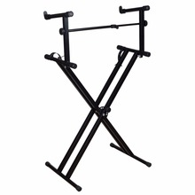 X Style Dual Music Keyboard Stand Electronic Piano Double 2-Tier Adjustable Fast Shipping From US(China (Mainland))