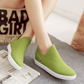 2016 New Woman Candy Color Style Casual Shoes Female a Pedal Lazy Loafers Flock Single Shoes