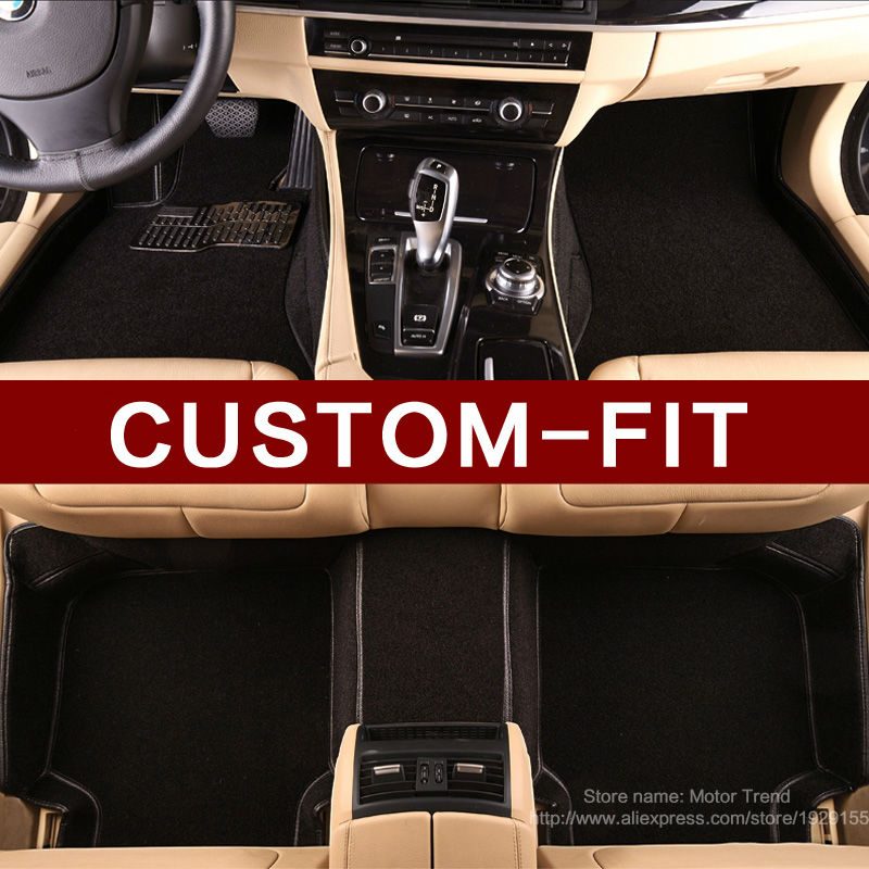 Custom fit car floor mats for Volkswagen Beetle CC Eos Golf Passat Tiguan Touareg sharan 3D car styling carpet floor liners(China (Mainland))