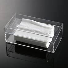 Acrylic Clear Tissue Box Transparent Cover Rectangular Holder Size 24*12.5*8.5cm(China (Mainland))