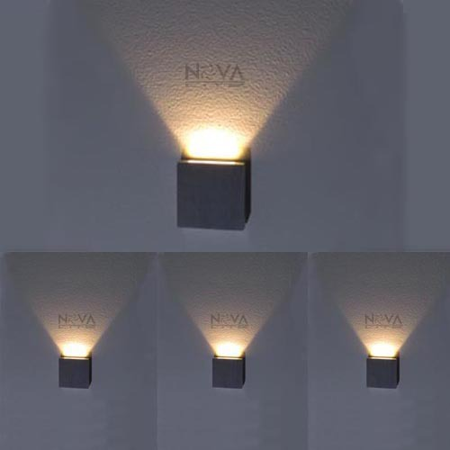 Led Indoor Wall Lamps : Indoor Step Light, LED Stair Lighting Square Slim Wall Lamps Recessed with Drive One Beam ...