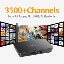 Buy X92 2g +16G Smart Android TV STB H.265 STB iptv box europe italia French channels Subscription 1 Year Arabic Media Player for $91.29 in AliExpress store