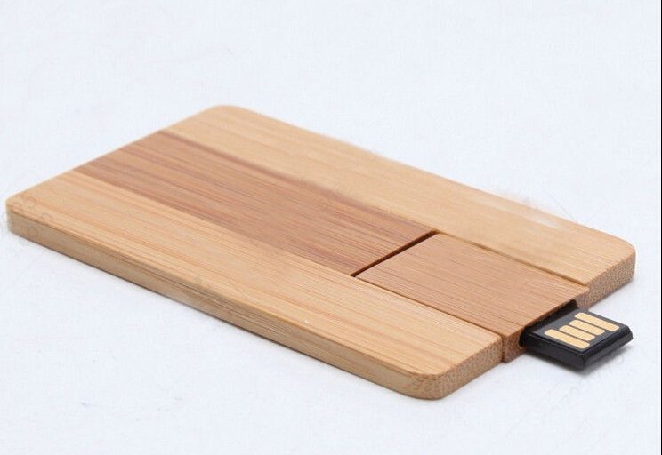 (over 30pcs,Free Engrave/Printing Logo Sample )New maple bamboo wooden card Gift usb 2.0 memory flash stick pendrive(China (Mainland))