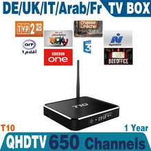 Quad Core Android 4.4 europe IPTV/OTT Box Arabic French UK Italy Africa Live Movies IPTV Channel For Europe