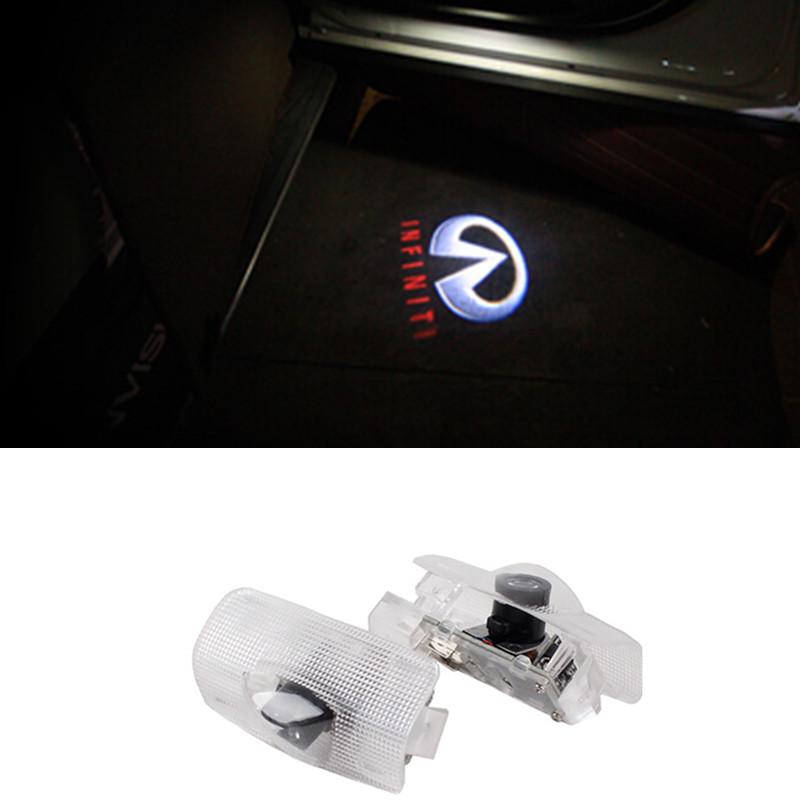 2x car door light ghost shadow welcome light logo projector emblem For Infiniti FX/G/M/EX QX50 QX30 QX60 Q50<br><br>Aliexpress