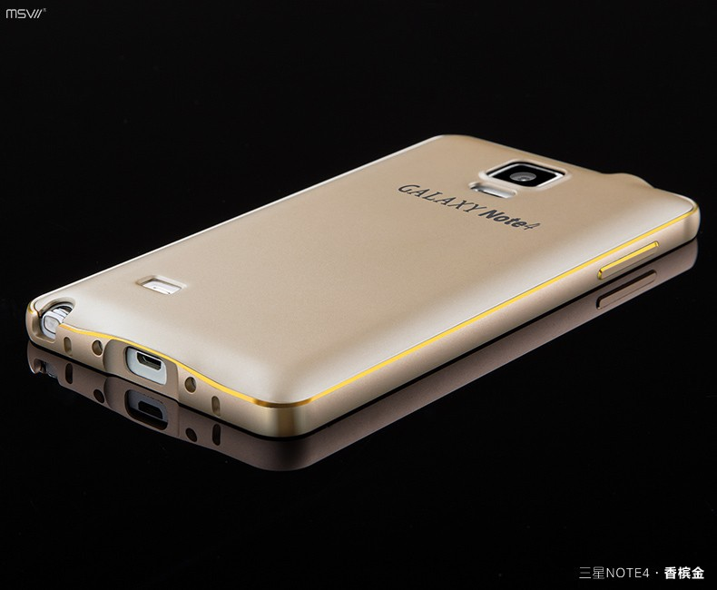 note 4 gold edge bumper+cover-7