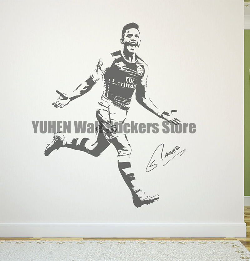 Alexis Sanchez Wall Decal Sticker FC Arsenal Football Soccer Player Chile(China (Mainland))