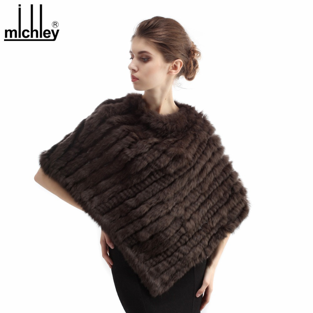 MICHLEY Korean Design Easy Compatible Women Knitting Rabbit Fur Pullover Shawl Triangle Winter Scarf MIC005(China (Mainland))